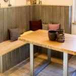 Sitzbank aus Holz Holzbank Sitzecke Massivholztisch Holztisch Esstisch Holzmöbel Möbel aus Holz Möbel nach Maß Massivholzmöbel Massivholz Vollholzmöbel