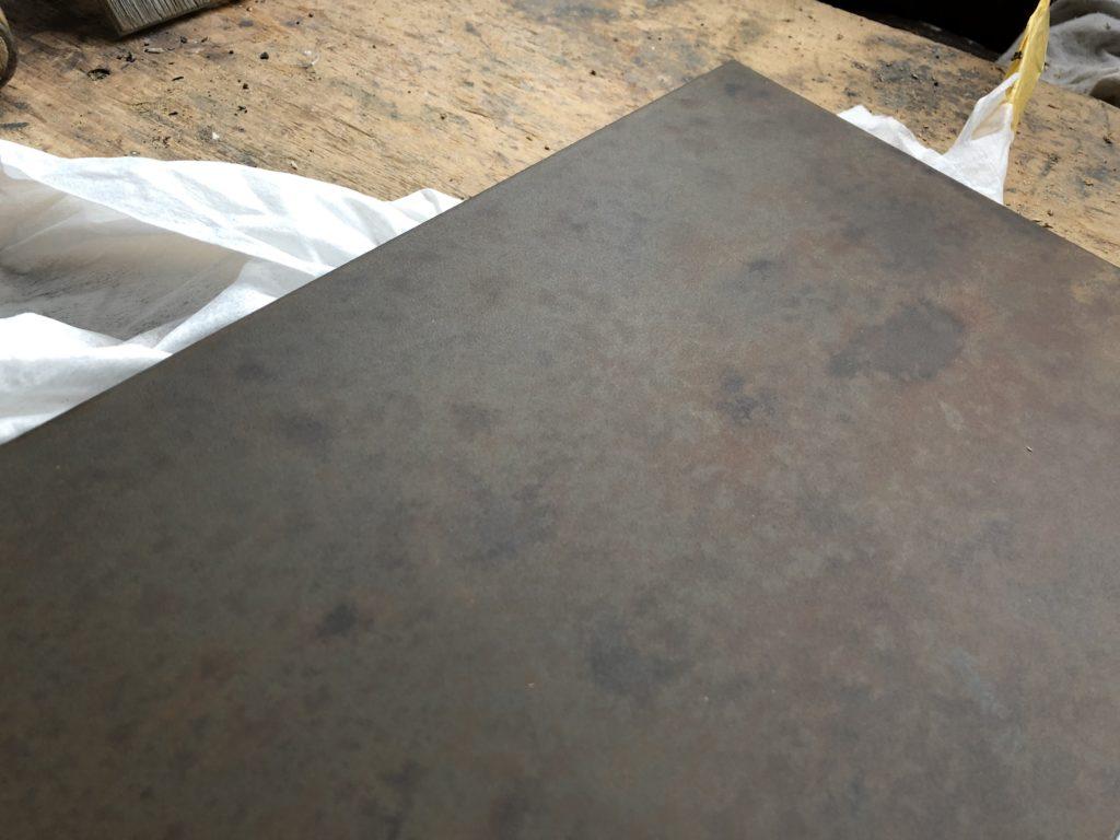 Rost-Oberfläche in Tischlerei